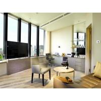 Wholesale Fashion Apartment Hotel Room Furniture Wooden Headboard with Storage Bed and Chest of Cabinets made by Oak laminated from china suppliers