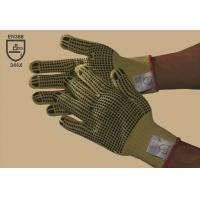 Wholesale 100 % Kevlar double-side PVC dotted glove,cut resistance,Non-slip,Gauge10 from china suppliers