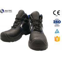 Wholesale Construction Site Ppe Safety Boots , Slip On Steel Toe Boots Warehouse Black Leather from china suppliers