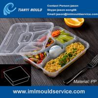 Wholesale multi-compartment thin wall disposable food container mould, lunch box 5 compartment mold from china suppliers
