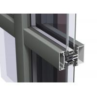 China Easy Cleaning Curtain Wall Aluminium Profiles , Unitised Curtain Wall GB Certified on sale
