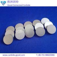 Quality Ground tungsten carbide disc grinding disc tungsten carbide round plates for for sale