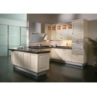 Blum Hinges Solid Wood Kitchen Furniture , 18mm Plywood Carcass Appartment Kitchen Cabinets