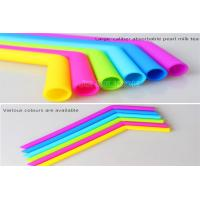 Wholesale Curved Bent Drinking Silicone Straws Dishwasher Safe Any Colors Easy To Clean from china suppliers