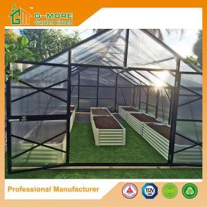 Quality Aluminum Greenhouse-Titan series-606X406X273CM-Green/Black Color-10mm thick PC for sale