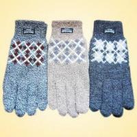 Wholesale Acrylic Knitted Jacquard Gloves, Logo Printing Service is Available from china suppliers