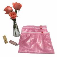 Buy cheap Pink cosmetic item packaging ziplock air bubble bag zip top bubble bag from wholesalers