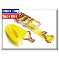 Wholesale Double J Hooks Roof Ratchet Tie Down Straps , 3 Inch Ratchet Straps USA Standards from china suppliers
