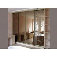 Sliding Door Tinted Mirror Glass 3mm Thickness Multicolor Size Customized for sale