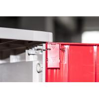 Wholesale Factory Keyless ABS Plastic Lockers 5 Tier Red Door Changing Room Lockers from china suppliers