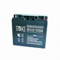 Buy cheap Storage Battery with 20Ah Capacity and 12V Normal Voltage, Suitable for UPS from wholesalers