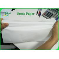 China Tear Resistant 92g 216g Stone Wrapping Paper For Making Notebook Eco - Friendly for sale