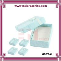 Rectangle Shaped Paper Treasure Jewelry Trinket Box Clear Blue ME-ZB011 for sale