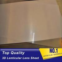 Wholesale 51X71CM 0.25MM PET Lenticular Lens Film3d sheet lenticular lenses material for 3d lenticular printing service from china suppliers
