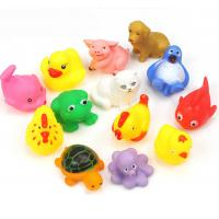 Quality Floating Baby Rubber Bath Toys Animal Shape 12 Pcs Harmless Gifts For Children for sale