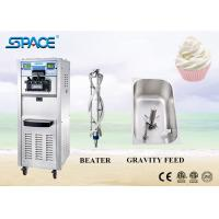 Commercial 3 Flavor Soft Serve Freezer , Ice Cream Maker Machine For Business for sale