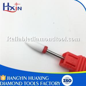 Best Dia 6.5MM Ceramic Nail Drill Bit White Ceramic Burr For Nail Shank Head 2.35mm wholesale