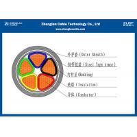 Wholesale Five Cores& Multi Cores Low Voltage Armoured Power Cable XLPE Sheated (CU/XLPE/STA/NYBY/N2XBY)) from china suppliers