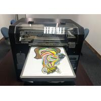 China Flatbed Color Digital Garment Printing Machines A3 DTG For Cotton Fabric T Shirt for sale