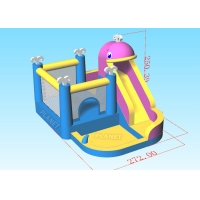 Wholesale 2.72x3.68x2.5mH Family PVC Tarpaulin Inflatable Bounce House from china suppliers