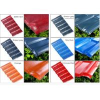 Wholesale Color Coated Corrugated Pvc Synthetic Resin Roof Tile Spanish Style 1050mm Width from china suppliers