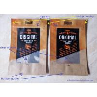 Wholesale Laminated Brown Craft Paper Bags With Transparent Window In Front For Snack Food from china suppliers