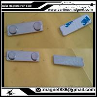 Wholesale Metal Magnet fastener for badges 45 mm x 13 mm for clothing from china suppliers