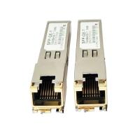 OEM RJ45 Copper SFP Fiber Optic Transceiver 1.25G 100m Distance Transmission for sale