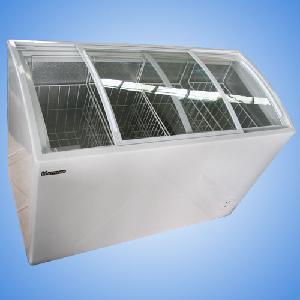 Curved Glass Door Chest Freezer (SD/SC-268Y)