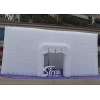 China 11x11 m big party or event inflatable cube tent with 4 doors made of best pvc coated nylon for sale
