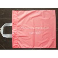 China Pink Side Gusset Plastic Hanger Bags Large Size For Gift / Grocery Shopping on sale