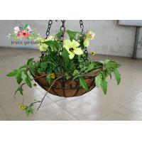 Wholesale Wall Decor Indoor Hanging Flower Baskets , Round Hanging Plant Holders from china suppliers