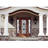 Personal Style Spray Coating Wrought Iron Glass Door With Hot Dipfabricated for sale