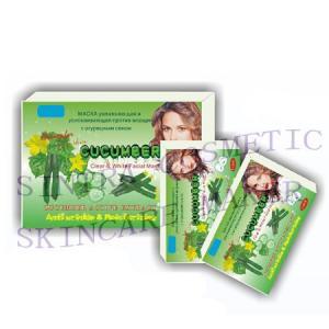 China Vitamin Cucumber Facial Mask Moisturizing , Skin Tightening Face Mask RH-01 on sale