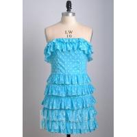 Wholesale Wholesale Black/blue strapless cotton short dress prom dress with polka dot from china suppliers