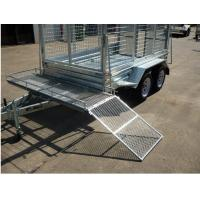 "9"" × 5"" Tandem Axle Lawn Mowing Trailer , Lawn Maintenance Trailers Double Axle"