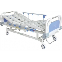 China Stamping Forming Movable 2 Crank Manual Hospital Bed on sale