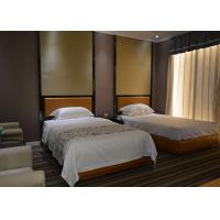 Walnut Finished Hotel Guest Room Furniture With Stainless Steel Frame