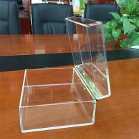 Best custom high clear acrylic cube storage boxes wholesale