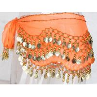 Buy cheap Polyester Adult Basic Belly Dance Hip Scarf With Coins , Lightweight from wholesalers
