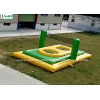 Wholesale Green n Yellow Adults Inflatable Bossaball Court With Trampoline from china suppliers