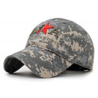 Wholesale Adjustable Embroidered Baseball Caps 100% Cotton Army Style For Adults from china suppliers
