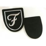 China Promotional Silver Tpu Logo Raised Custom Pvc Patches No Minimum for sale