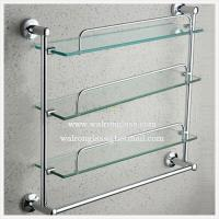 Wholesale Multilayer Bathroom Shelf with Top Quality Clear Tempered/Toughened Glass From China from china suppliers