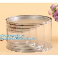 PET Jar 85mm neck size food grade clear PET plastic Can screw type with aluminium easy open endsPackaging plastic can 25 for sale