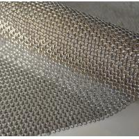 China 304L Stainless Steel Decoration Chainmail Sheets / Welded Ring Mesh 304 Stainless steel chain mail ring mesh for Protect on sale