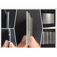 0.1MM Slot Wire Mesh Screen For Suger Cane Making / Wedge Wire Filter Easy Clean