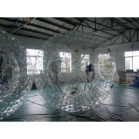 China High Durability Customers design 0.9mm PVC Inflatable Zorb Ball With Two Soft Cushions on sale