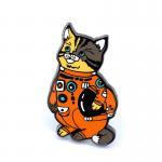 China Astronaut Cat Custom Enamel Pin for sale