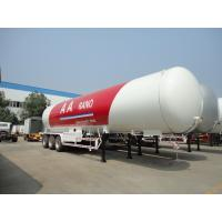 Wholesale Tri Axle Lpg Tank Semi Trailer , 59.52CBM 59520 Liters 30 Ton LPG Road Tanker from china suppliers